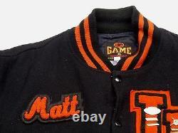 Jeu Matt Collegejacke Winter Baseballjackeschwarzvintagegr Xlrarität