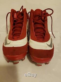 Jimmy Rollins Signé Jeu Utilisé Phillies Nike Baseball Crampons Rollins Loa &