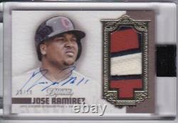 Jose Ramirez 2019 Topps Dynasty Jeu Used Jersey Patch Auto Signed Indians 10/10