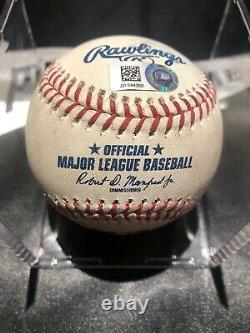 Juan Soto Mlb Jeu Utilisé Double Baseball 21/06/19 Hit À Acuna Nationals Jr.