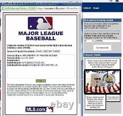 Ken Griffey Jr 2001 Upper Deck Jeu Utilisé Baseball Bat Autograph Uda 22/50 Auto