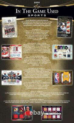 Leaf In The Game 2020 Sports D'occasion Scellés Hobby Box 5 Premium Hits Auto/mem