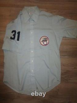 Ligue Américaine Al Mlb # 31 Arbitre Jeu Utilisé Worn Hathaway Baseball Jersey
