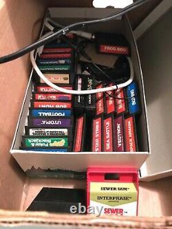 Lot 27 Intellivision Rare Games + Console Baseball Donkey Kong Working Star Wars