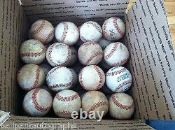Lot De 32 Baseballs Bien Utilisés Little League Batting Fielding Pratique Hard Balls