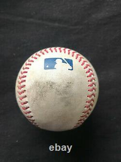 Luis Robert Jeu Utilisé Baseball Hit #13 White Sox Rookie Year Mlb Authentifié