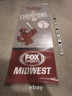 Matt Holliday St. Louis Cardinals Fox Sports Midwest Jeu Utilisé Vinyl Banner