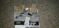 Matt Kemp Atlanta Braves Jeu Utilisé Autograph Batting Gloves Mlb All Star