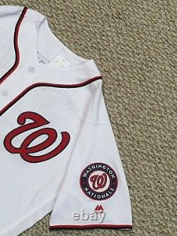 Matt Wieters Taille 48 #32 2018 Nationals Game Used Jersey Home White Mlb Holo