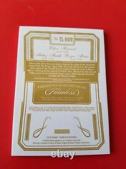Mickey Mantle Roger Maris Elston Howard 3 Jeu D'occasion Bat Jersey Card #25 Flawless