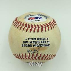 Miguel Cabrera Triple Crown 2012 Signé Jeu Inscrit Utilisé Baseball Psa Adn