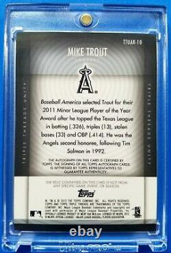 Mike Trout 2012 Topps Triple Threads /99 Auto Autograph Game Used Memorabilia