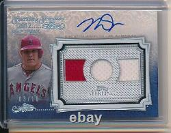 Mike Trout Auto Jeux D'occasion Jersey Relic 2020 Topps Sterling Silver 3/10