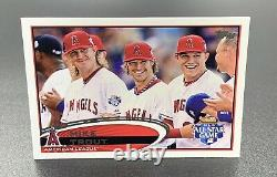 Mike Trout Sp 2012 Topps Update Series All Star Game Us144 Short Print La Angels