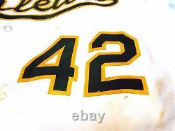 Mlb Holo Stephen Jackie Robinson Day Vogt Oakland De Jeu Utilisé Baseball Jersey