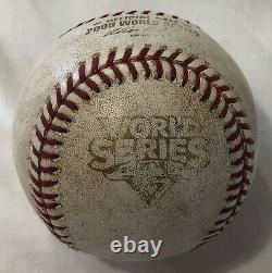New York Yankees 2009 World Series Clinchage Jeu 6 Jeu-utilisé Baseball Pettitte