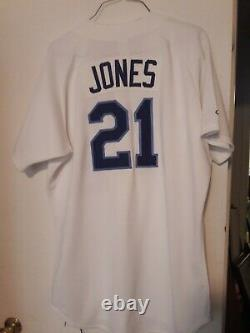 Ny Mets 2000 Bobby Jones Aaa Norfolk Tides Jeu Utilisé Baseball Jersey Équipe Coa