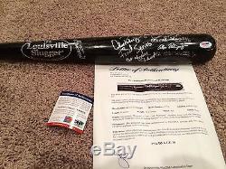 Ny Yankees Alex Rodriguez Jeu Utilisé Et Signé Batte De Baseball Graded Psa 10
