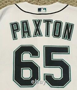 Paxton Taille 48 #65 2018 Seattle Mariners Jeu Utilisé Jersey Maison Blanc Mlb