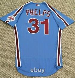Phelps #31 Taille 46 2020 Philadelphia Phillies Accueil Retro Jeu Utilisé Jersey Mlb