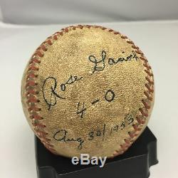 Rare 1953 Rose Gacioch Signé Aagpbl Jeu Utilisé Baseball League De Leur Propre Auto