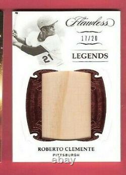Roberto Clemente Jumbo Jeu Utilisé Bat Card #d20 2019 Flawless Pittsburgh Pirates