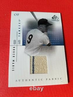 Roger Maris Jeu D'occasion Jersey Card 2001 Sp Jeu D'occasion Édition Tissu Ny Yankees