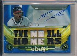 Ronald Acuna Jr Braves 2019 Topps Triple Threads Jeu Used Relic Auto 3/3