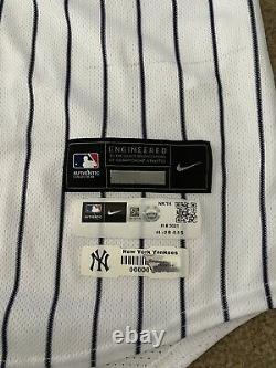 Rougned Odor 2021 Jeu Utilisé Et Écrit Ny Yankees Jersey Jackie Robinson Day Mlb