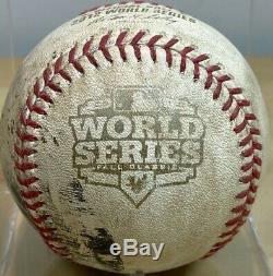S. Romo 2ème Au Dernier Pitch 2012 World Series Gm3 Jeu D'occasion De Base-ball Géants Tigers