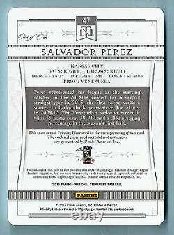 Salvador Perez 2015 Jeu De Trésors Nationales Plaque D'impression De Patch D'occasion Auto 1/1