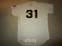 San Francisco Giants #31 Mlb Worn Used 2000 Majestic Baseball Jersey 46