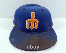 Seattle Mariners Floyd Bannister #38 Jeu Utilisé Blue Hat
