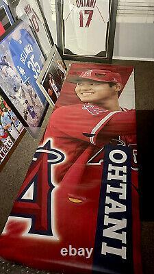 Shohei Ohtani Anaheim Stadium Jeu Utilisé Affichage 2018 Vinyl Banner Rare Angels