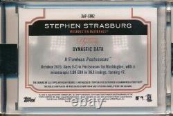 Stephen Strasburg Auto Jeu Utilisé Jersey Relic Patch 9/10 2020 Topps Dynasty Nats