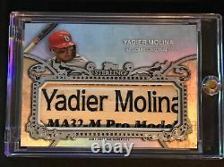 Topps Sterling Yadier Molina Bat Barrel 1/1 Game-used Nameplate Cardinals 2020 Topps Sterling Yadier Molina Bat Barrel 1/1 Game-used Nameplate Cardinals 2020 Topps Sterling Yadier Molina Bat Barrel 1/1 Game-used Nameplate Cardinals 2020 Topps