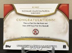 Topps Tier One 2014 Nomar Garciaparra Jeu Utilisé Bat Knob #1/1 Red Sox