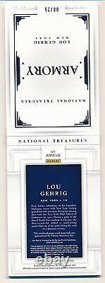 Trésors Nationaux 2016 Lou Gehrig 6x Jeu Utilisé Relic Booklet Armory #8/25
