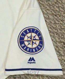 Tuivailala #26 Sz 46 2019 Seattle Mariners Home Jeu De Crème Utilisé Jersey 150 Mlb