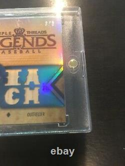 Ty Cobb 2012 Topps Triple Threads Legends Jeu Used Bat Gold Serial #3/3