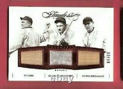 Ty Cobb Charlie Gehringer Harry Heilmann Jeu Utilisé Bat Jersey Card #d20 Flawless