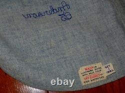 Vintage 1963 Jeu Utilisé Los Angeles Dodgers Flannel Baseball Jersey Pantalons Anges