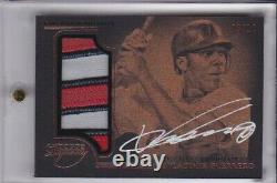 Vladimir Guerrero 2014 Dynasty Game Used Jersey Patch Auto Signed Angels 8/10