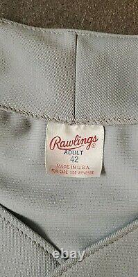 Vtg 80's 90's Georgia Tech Game Used Rawlings Baseball Jersey #6 Sz 42 Stitched