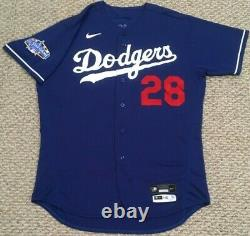 White Size 48 2020 Los Angeles Dodgers Jeu Utilisé Maillot All Star Patch Spring