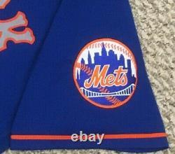 Wilson Taille 48 #38 2020 New York Mets Jeu Utilisé Jersey Road Blue 41 Mlb