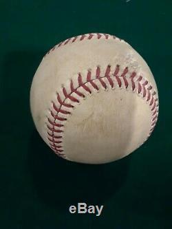 Yadier Molina St. Louis Cardinals 03/04/2016 Hit Baseball Jeu Utilisé, Jour D'ouverture